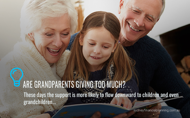 Are grandparents giving too much?