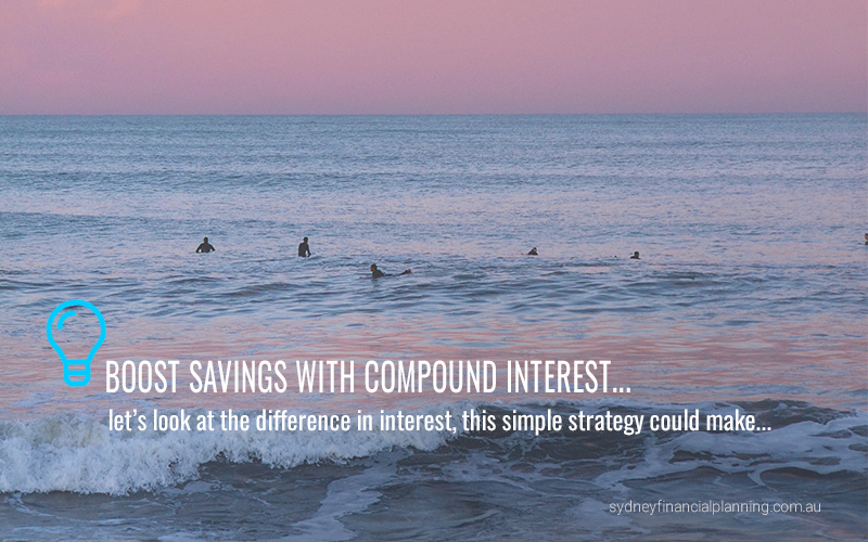 Boost savings with compound interest