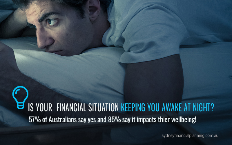 Financial stress keeping us awake