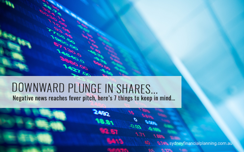2020 plunge in shares